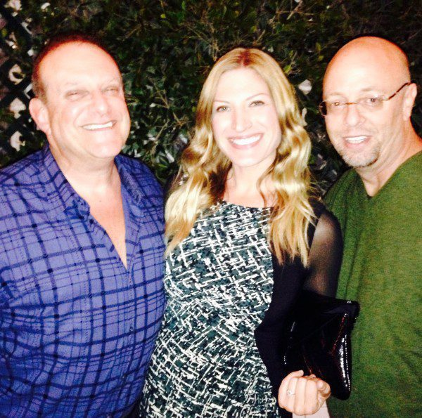 Joel Denver, Rayne Parvis and Matt Parvis at All Access holiday party at Sunset Room in Malibu, CA.